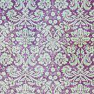Grungy Purple Floral Wallpaper by pjwuebker