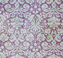Grungy Purple Floral Wallpaper by pjwuebker