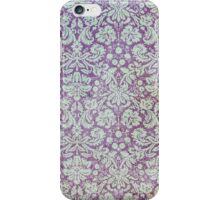 Grungy Purple Floral Wallpaper iPhone Case/Skin