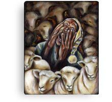 Too many sheep to sleep! Canvas Print