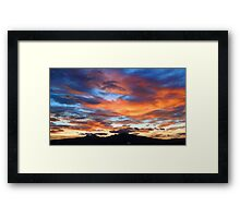 ©HCS Twilight Over Red and Blue I Framed Print