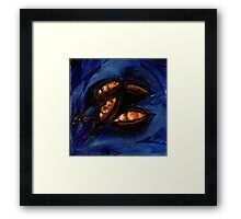 Seed Study in Blue Framed Print