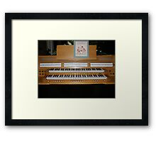 Sing With Me! Organ Console Framed Print