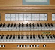 Sing With Me! Organ Console Sticker