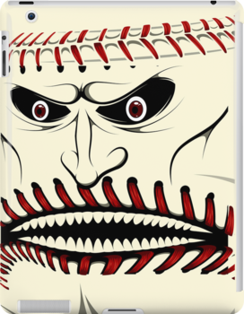 Angry Baseball Ball Face iPad Case / iPhone 5 Case / iPhone 4 Case / Samsung Galaxy Cases  by CroDesign