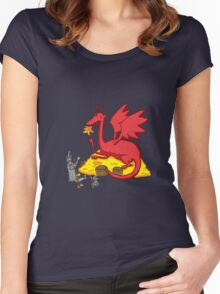 Chillin with Smaug Women's Fitted Scoop T-Shirt