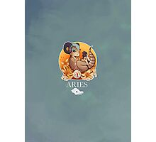 Aries Dinosaur Zodiac Photographic Print