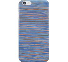 stripes with orange and blue iPhone Case/Skin