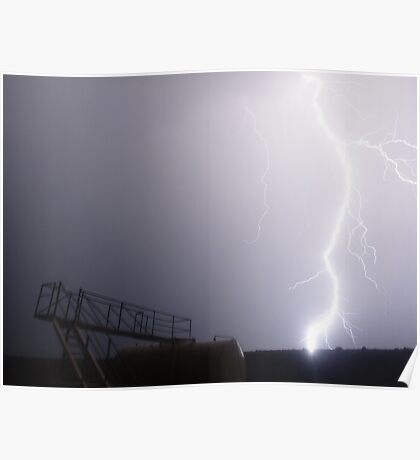 Lightning at the pump site. Poster