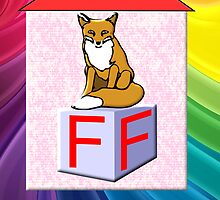 F is for Fox Play Brick by Dennis Melling