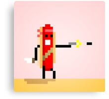 Hot Dog Commando Canvas Print