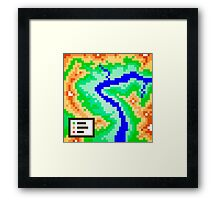 Pixel Topography Framed Print