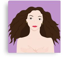 Naked girl Canvas Print
