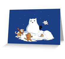 Snowcat Greeting Card