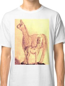 Mother Llama and Baby Classic T-Shirt