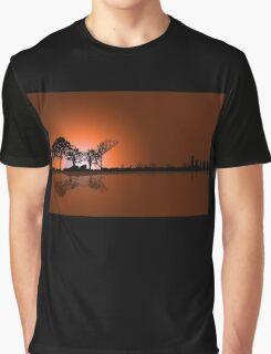 Moonrise Guitar  Graphic T-Shirt