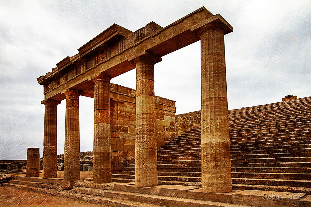 Temple of Athena, Acropolis of Lindos, Rhodes by Robyn Carter