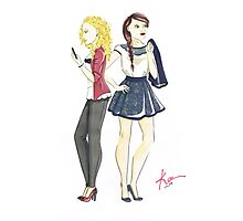 Modern Day Meg and Christine: On the Town! Photographic Print