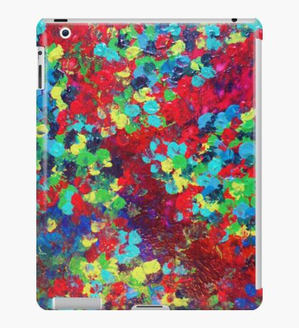 POND IN PIGMENT Bright Bold Neon Abstract Acylic Floral Aquatic Painting iPad Case/Skin