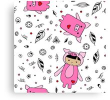 For the love of Pigs Canvas Print
