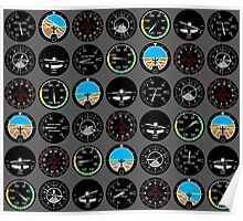Flight Instruments Poster
