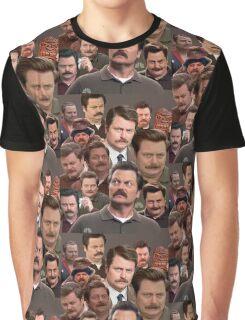 Ron Swanson Tile Graphic T-Shirt