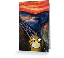"""The Scream"" featuring Psyduck Greeting Card"