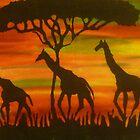 giraffes by twohearts2