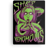 Snake Girl - She's Venomous Metal Print