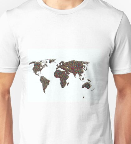 A S L ... I Love You World Map  Unisex T-Shirt