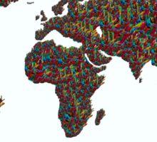 A S L ... I Love You World Map  Sticker
