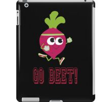 Go Beet Cute Retro Running Beet iPad Case/Skin