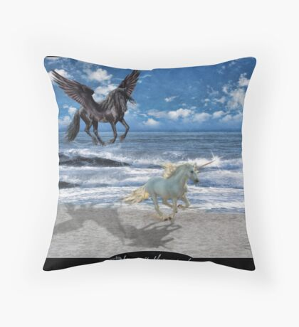 Chasing the wind Throw Pillow