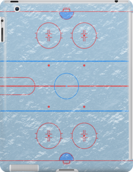 Hockey Ice Rink iPad Case / iPhone 5 Case / iPhone 4 Case  / Samsung Galaxy Cases  by CroDesign