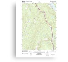 USGS TOPO Map New Hampshire NH North Grantham 20120508 TM Canvas Print