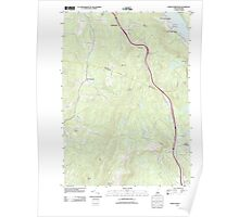 USGS TOPO Map New Hampshire NH North Grantham 20120508 TM Poster