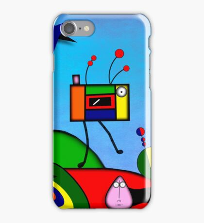 My Homage To Miro - The Raven King and I iPhone Case/Skin
