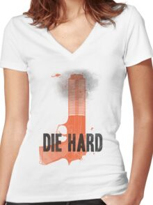 Die Hard Women's Fitted V-Neck T-Shirt