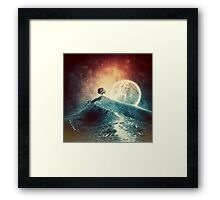 Under the colorful moonlight Framed Print