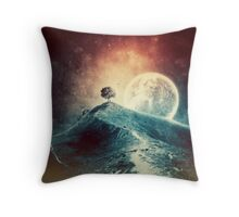 Under the colorful moonlight Throw Pillow