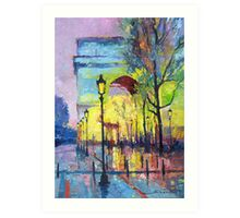 Paris Arc de Triomphie  Art Print