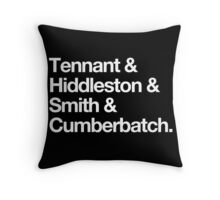 Middle-aged British Liferuiners Throw Pillow