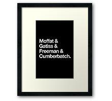 BBC Sherlock Boys Framed Print
