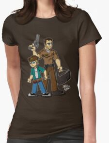 Rick & Carl Grimes Womens Fitted T-Shirt