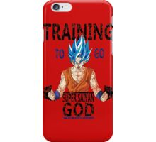 Training to go super saiyan god (vintage) iPhone Case/Skin