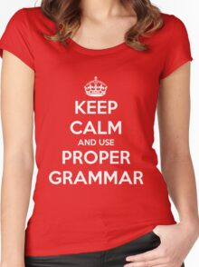 Keep Calm and Use Proper Grammar Women's Fitted Scoop T-Shirt