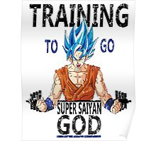 Training to go super saiyan god (vintage) Poster