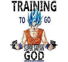 Training to go super saiyan god (vintage) Photographic Print