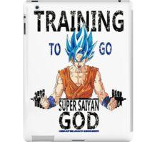 Training to go super saiyan god (vintage) iPad Case/Skin