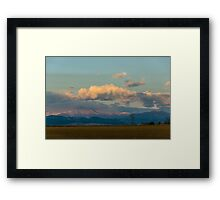 Moonship Sunset Framed Print
